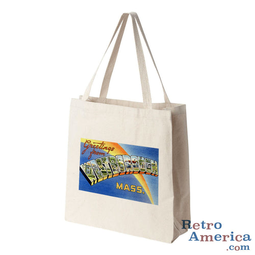Greetings from Westborough Massachusetts MA Postcard Tote Bag