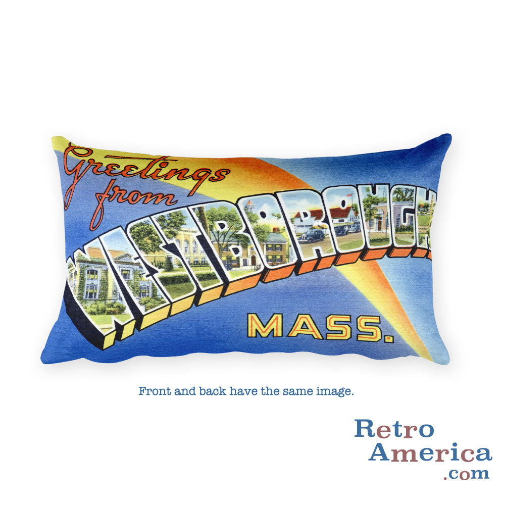 Greetings from Westborough Massachusetts Throw Pillow