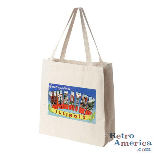 Greetings from Wheaton Illinois IL Postcard Tote Bag