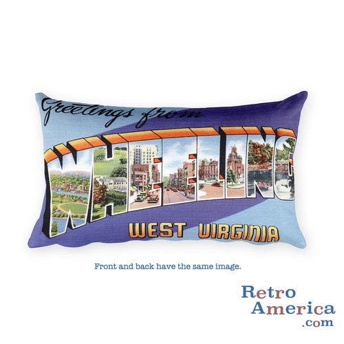 Greetings from Wheeling West Virginia Throw Pillow