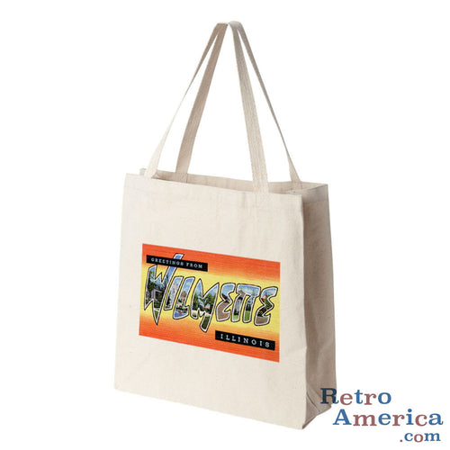 Greetings from Wilmette Illinois IL Postcard Tote Bag