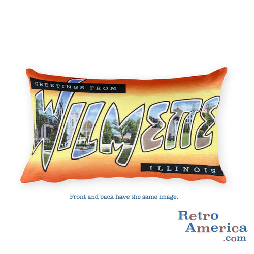 Greetings from Wilmette Illinois Throw Pillow