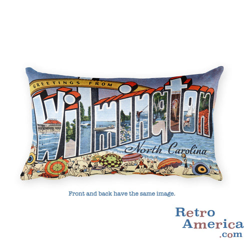 Greetings from Wilmington North Carolina Throw Pillow 1