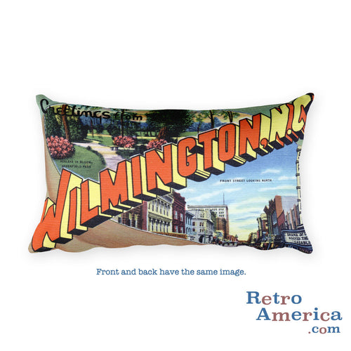 Greetings from Wilmington North Carolina Throw Pillow 2