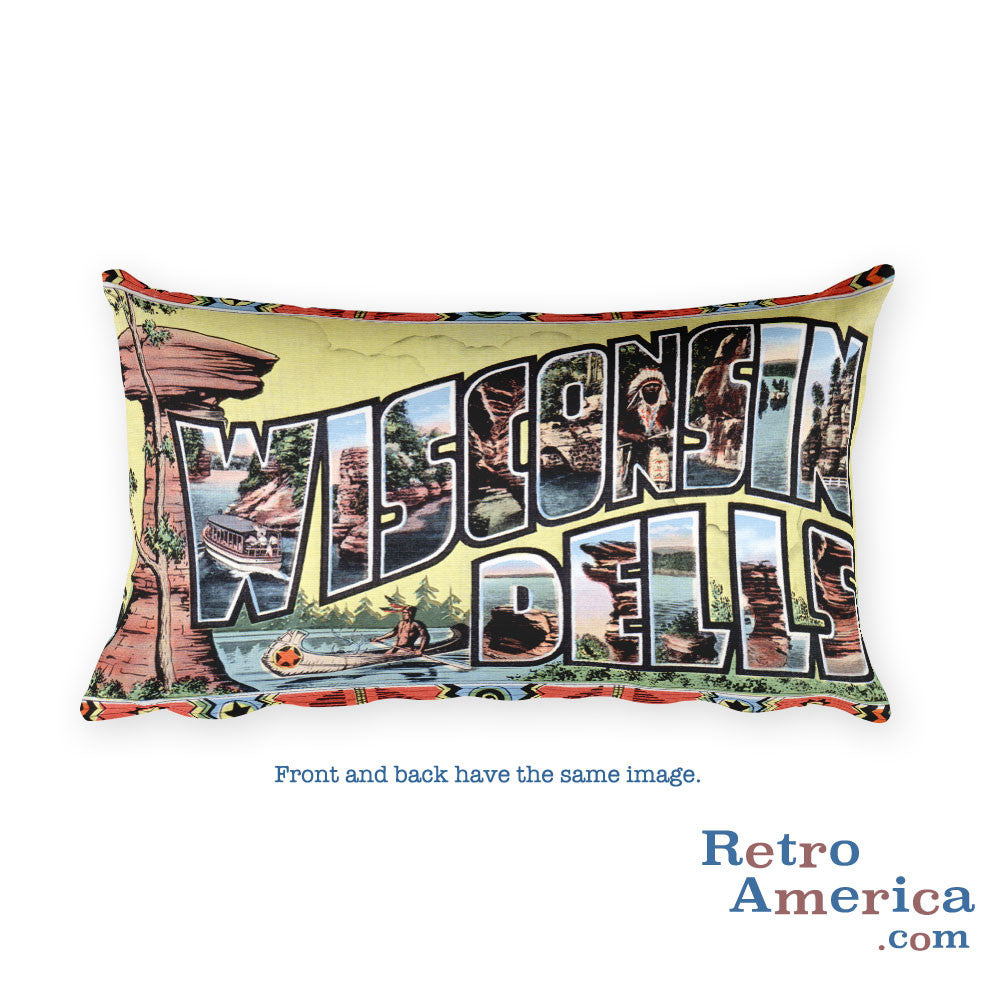 Greetings from Wisconsin Dells Wisconsin Throw Pillow 2