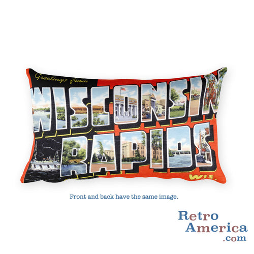 Greetings from Wisconsin Rapids Wisconsin Throw Pillow