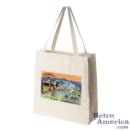 Greetings from Wyoming WY 1 Postcard Tote Bag
