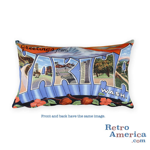 Greetings from Yakima Washington Throw Pillow
