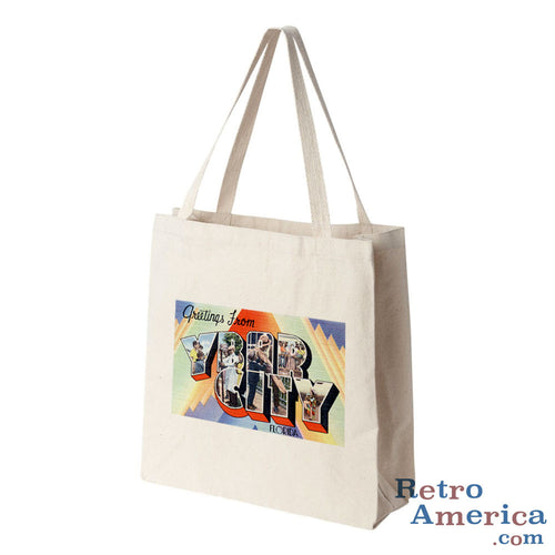 Greetings from Ybor City Florida FL Postcard Tote Bag