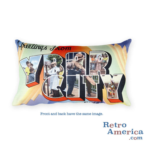 Greetings from Ybor City Florida Throw Pillow