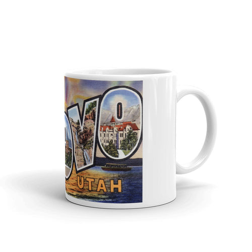 Greetings from Provo Utah Unique Coffee Mug, Coffee Cup