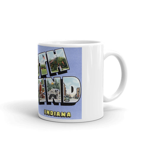 Greetings from South Bend Indiana Unique Coffee Mug, Coffee Cup