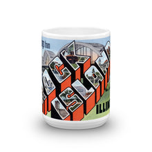 Greetings from Rock Island Illinois Unique Coffee Mug, Coffee Cup