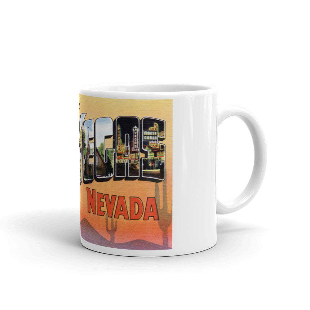 Greetings from Las Vegas Nevada Unique Coffee Mug, Coffee Cup 1