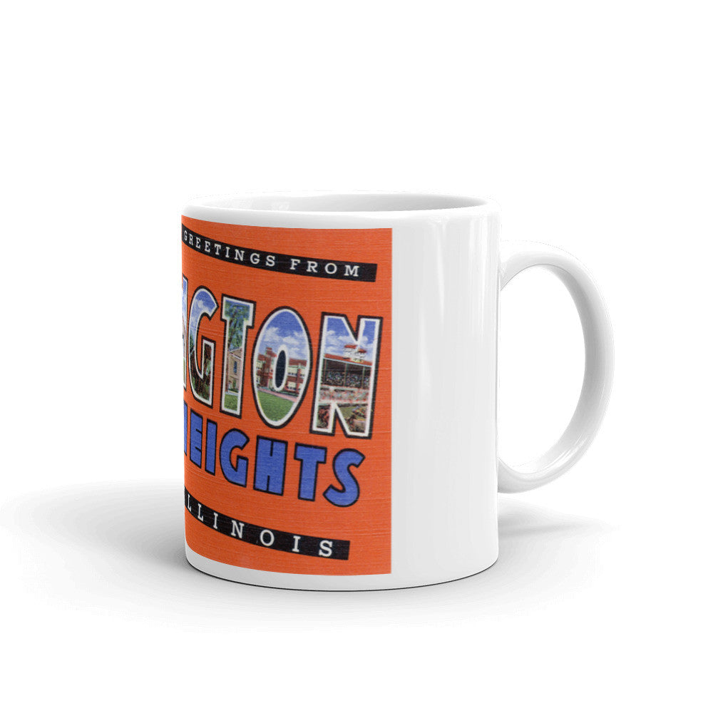 Greetings from Arlington Heights Illinois Unique Coffee Mug, Coffee Cup