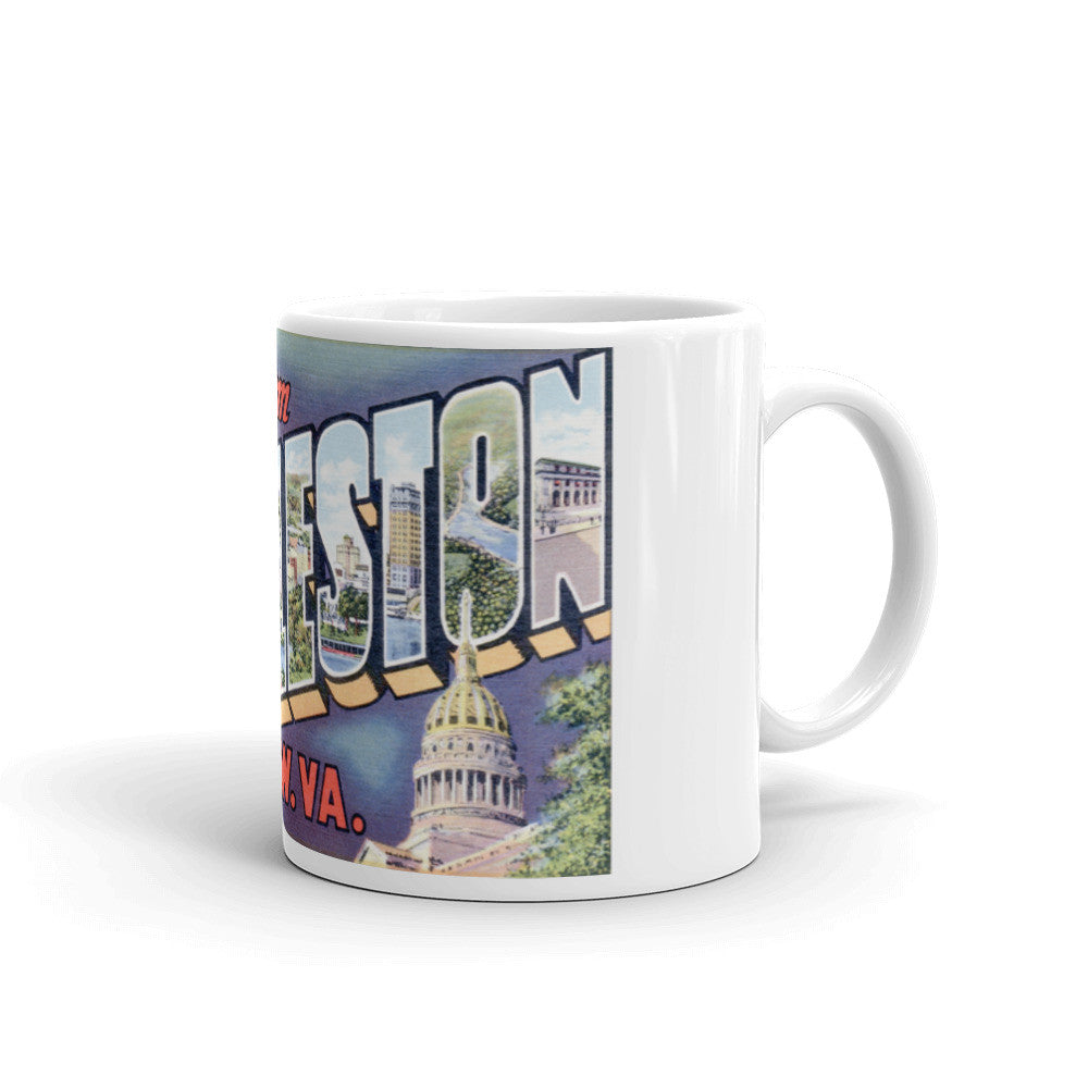 Greetings from Charleston West Virginia Unique Coffee Mug, Coffee Cup 2