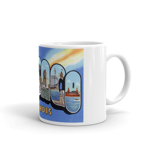 Greetings from Chicago Illinois Unique Coffee Mug, Coffee Cup 1