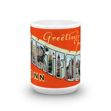 Greetings from Hartford Connecticut Unique Coffee Mug, Coffee Cup 1