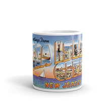 Greetings from Sea Isle New Jersey Unique Coffee Mug, Coffee Cup