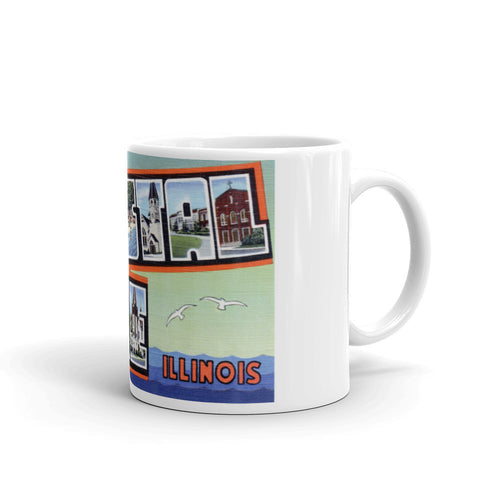 Greetings from Crystal Lake Illinois Unique Coffee Mug, Coffee Cup