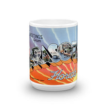 Greetings from Sarasota Florida Unique Coffee Mug, Coffee Cup