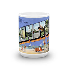 Greetings from Evanston Illinois Unique Coffee Mug, Coffee Cup