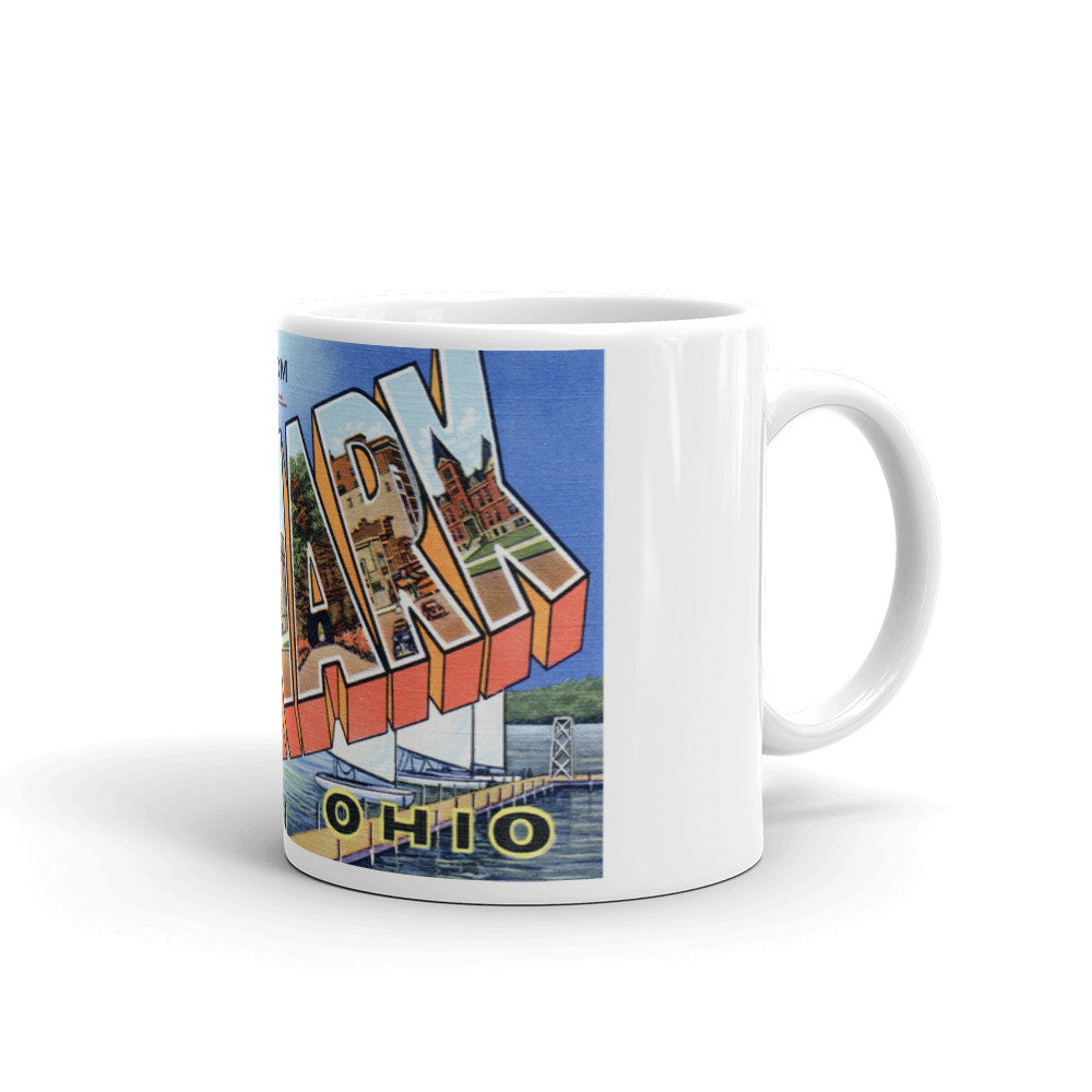 Greetings from Newark Ohio Unique Coffee Mug, Coffee Cup