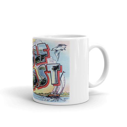 Greetings from Gulf Coast Unique Coffee Mug, Coffee Cup