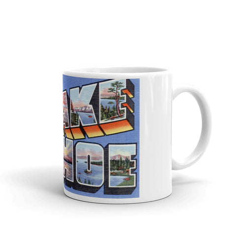 Greetings from Lake Tahoe Nevada Unique Coffee Mug, Coffee Cup