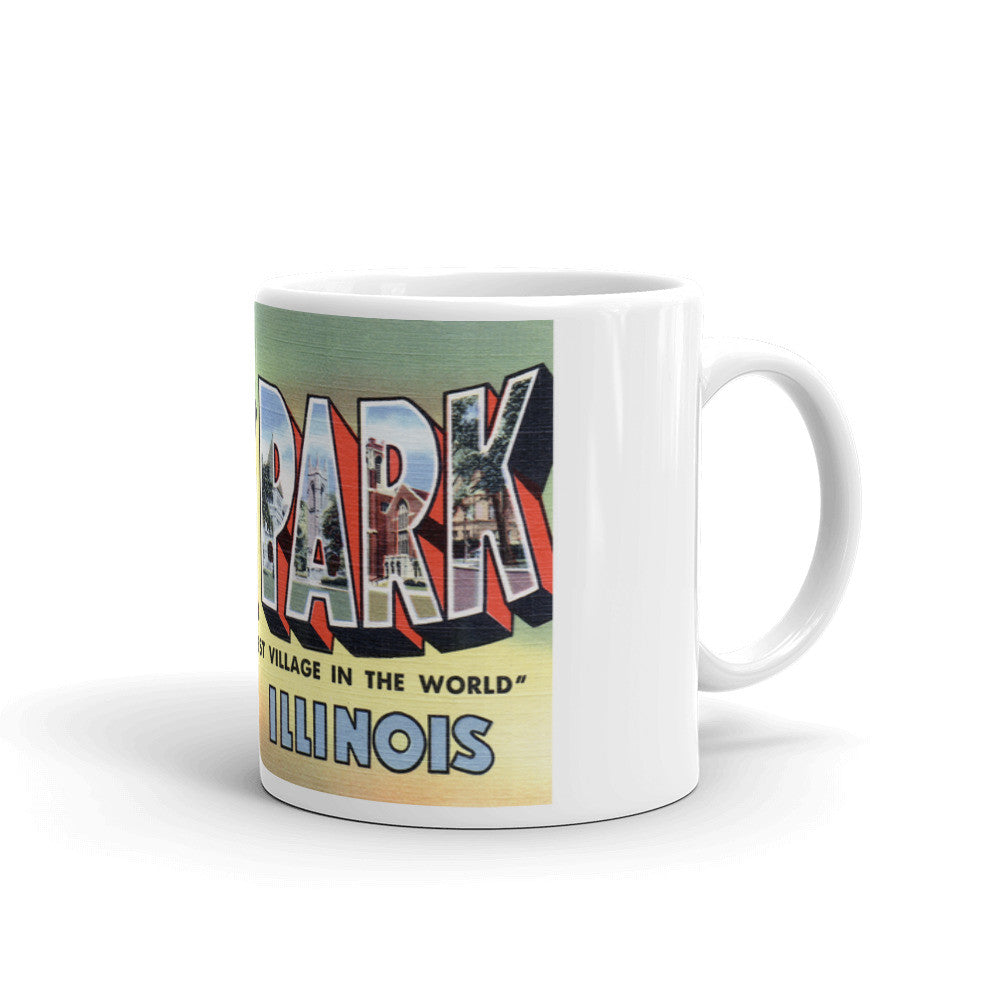 Greetings from Oak Park Illinois Unique Coffee Mug, Coffee Cup