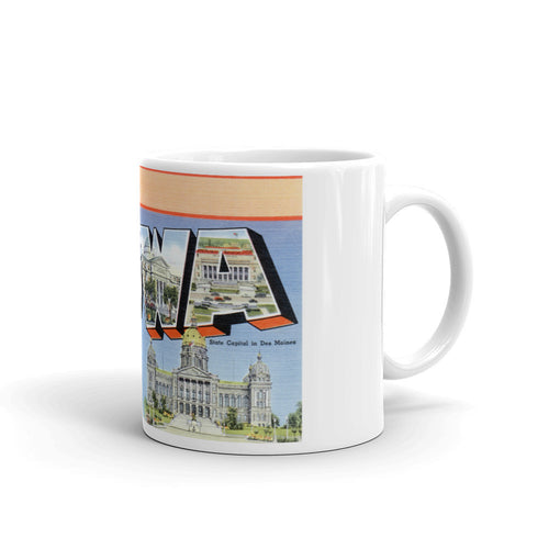 Greetings from Iowa Unique Coffee Mug, Coffee Cup 1