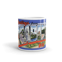 Greetings from Reading Pennsylvania Unique Coffee Mug, Coffee Cup 1