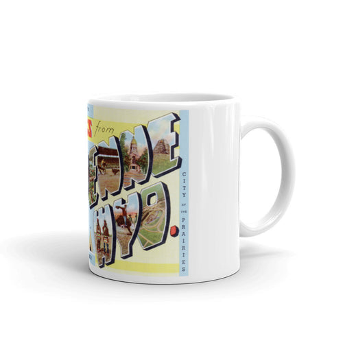 Greetings from Cheyenne Wyoming Unique Coffee Mug, Coffee Cup