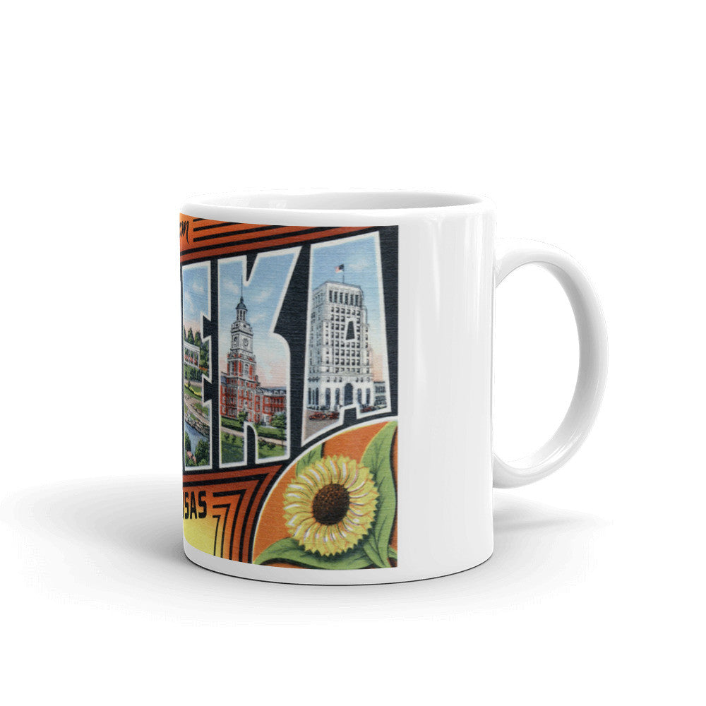 Greetings from Topeka Kansas Unique Coffee Mug, Coffee Cup 2