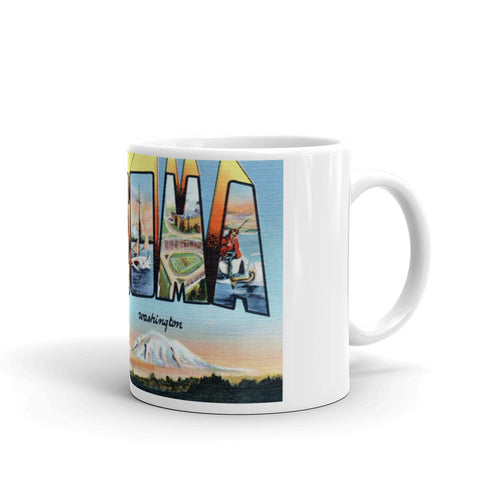 Greetings from Tacoma Washington Unique Coffee Mug, Coffee Cup