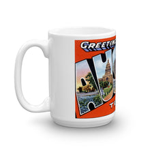 Greetings from Austin Texas Unique Coffee Mug, Coffee Cup