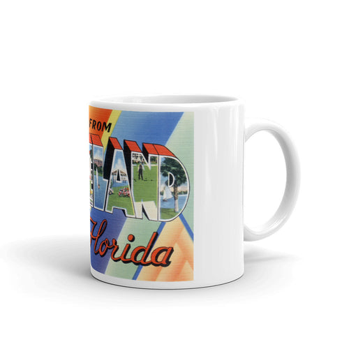 Greetings from Lakeland Florida Unique Coffee Mug, Coffee Cup