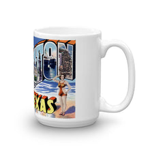 Greetings from Galveston Texas Unique Coffee Mug, Coffee Cup