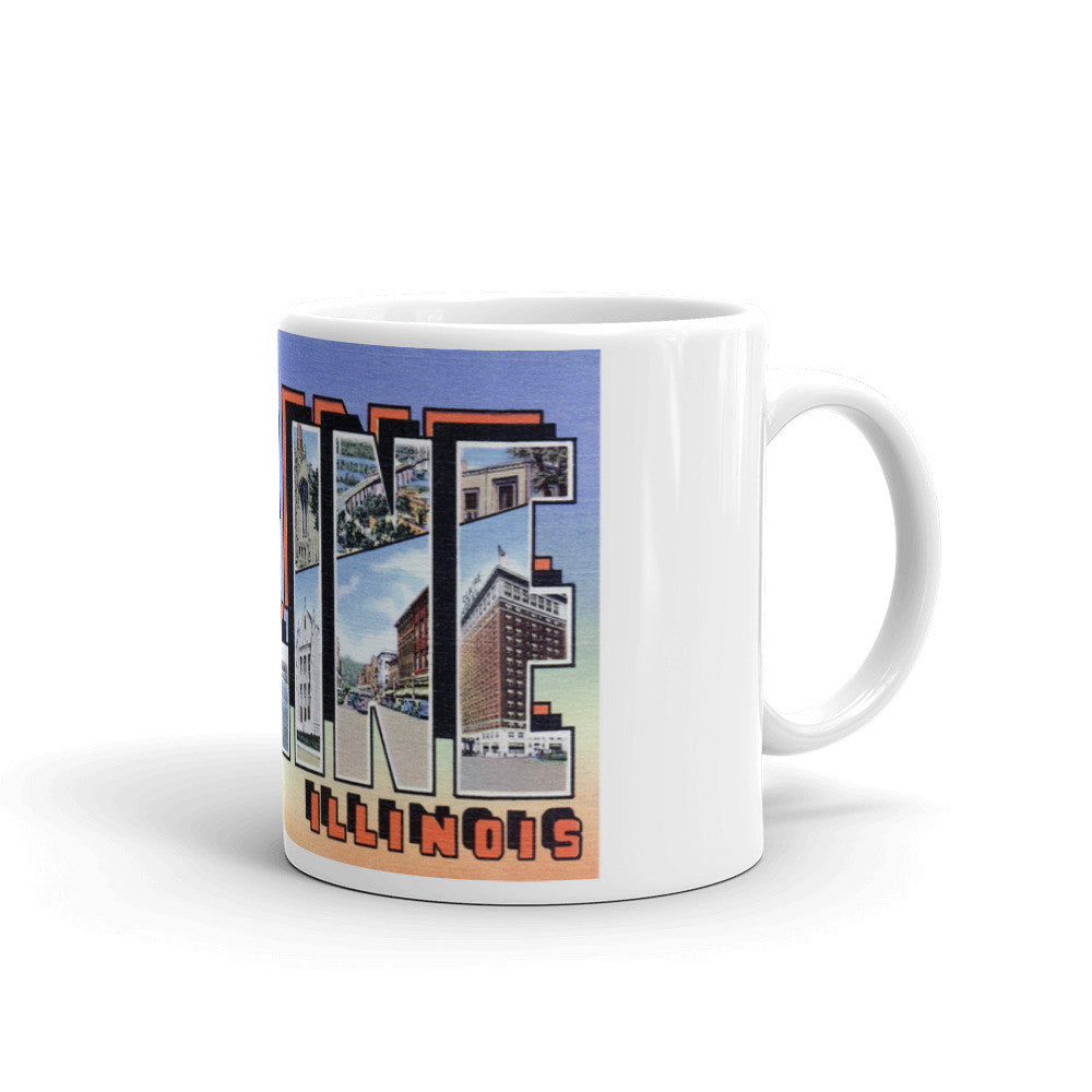 Greetings from Moline Illinois Unique Coffee Mug, Coffee Cup