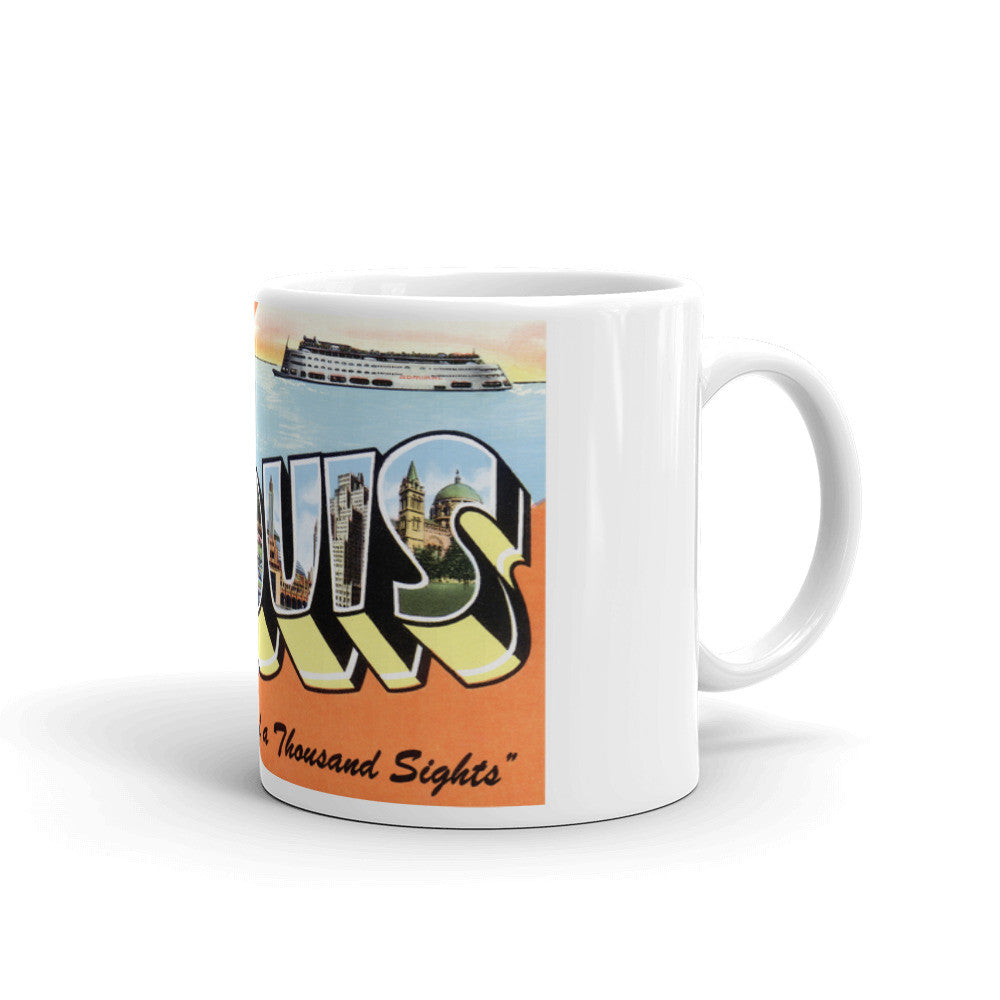 Greetings from St Louis Missouri Unique Coffee Mug, Coffee Cup 3