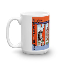 Greetings from Kewanee Illinois Unique Coffee Mug, Coffee Cup