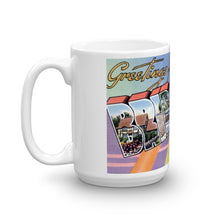 Greetings from Bridgeport Connecticut Unique Coffee Mug, Coffee Cup