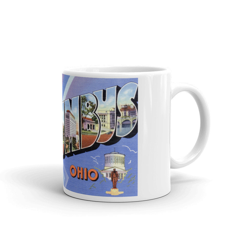 Greetings from Columbus Ohio Unique Coffee Mug, Coffee Cup 1
