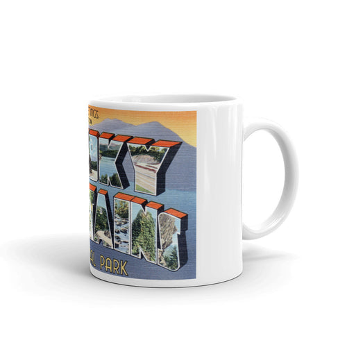 Greetings from Great Smoky Mountains Tennessee Unique Coffee Mug, Coffee Cup 2