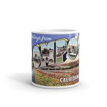 Greetings from Lompoc California Unique Coffee Mug, Coffee Cup