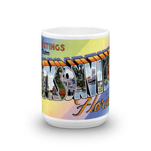 Greetings from Jacksonville Florida Unique Coffee Mug, Coffee Cup 1