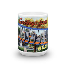 Greetings from Huntsville Alabama Unique Coffee Mug, Coffee Cup