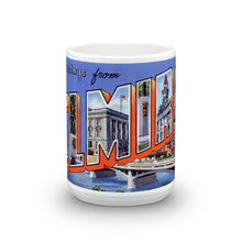 Greetings from Elmira New York Unique Coffee Mug, Coffee Cup