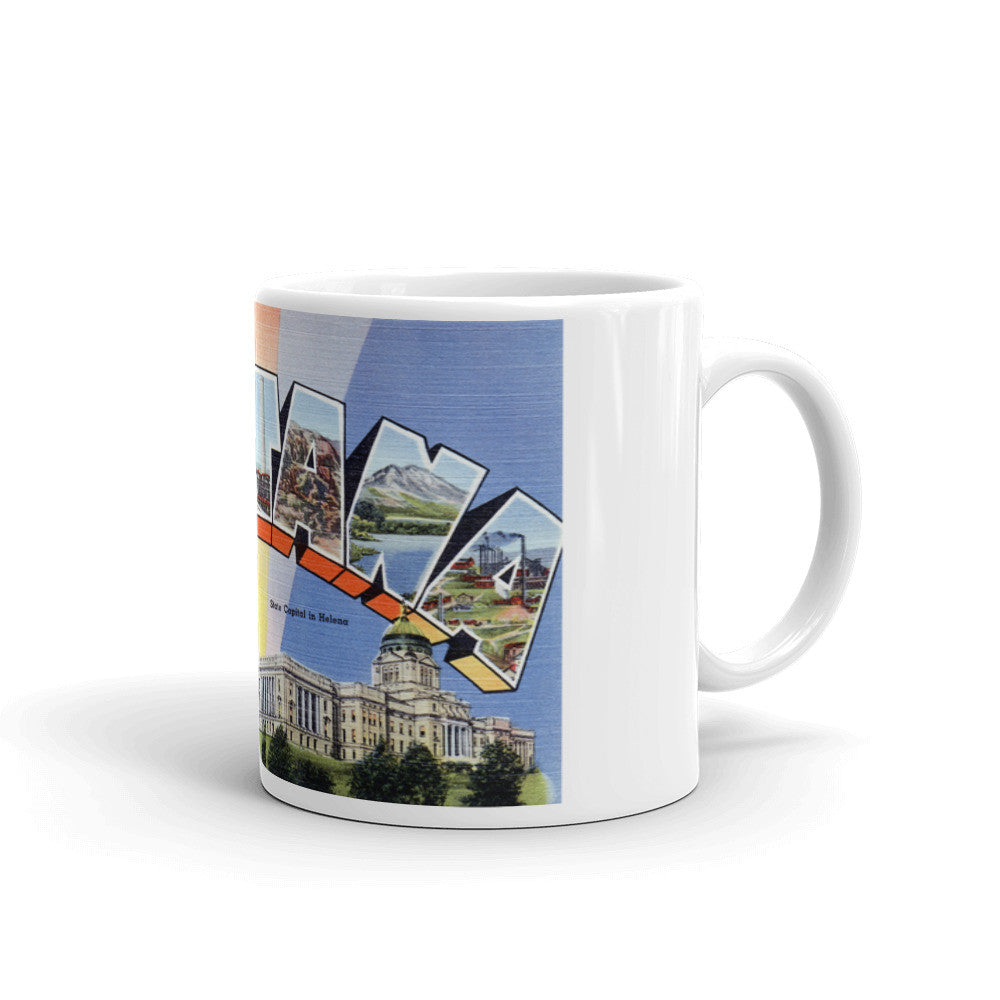 Greetings from Montana Unique Coffee Mug, Coffee Cup 1