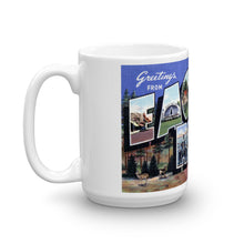 Greetings from Eagle River Wisconsin Unique Coffee Mug, Coffee Cup